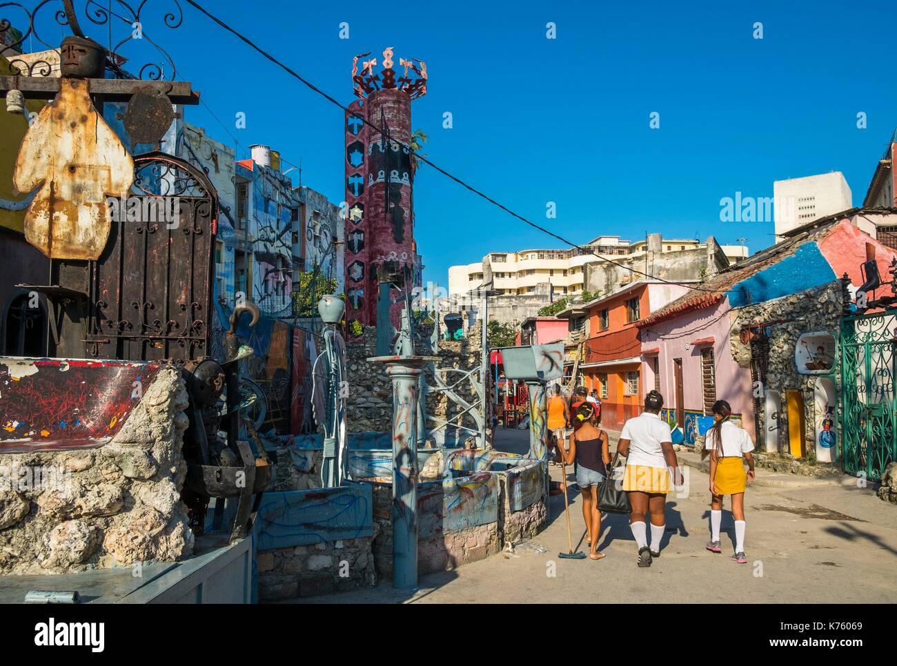 Cuba, Havana, Centro Habana district, Callejon de Hamel is