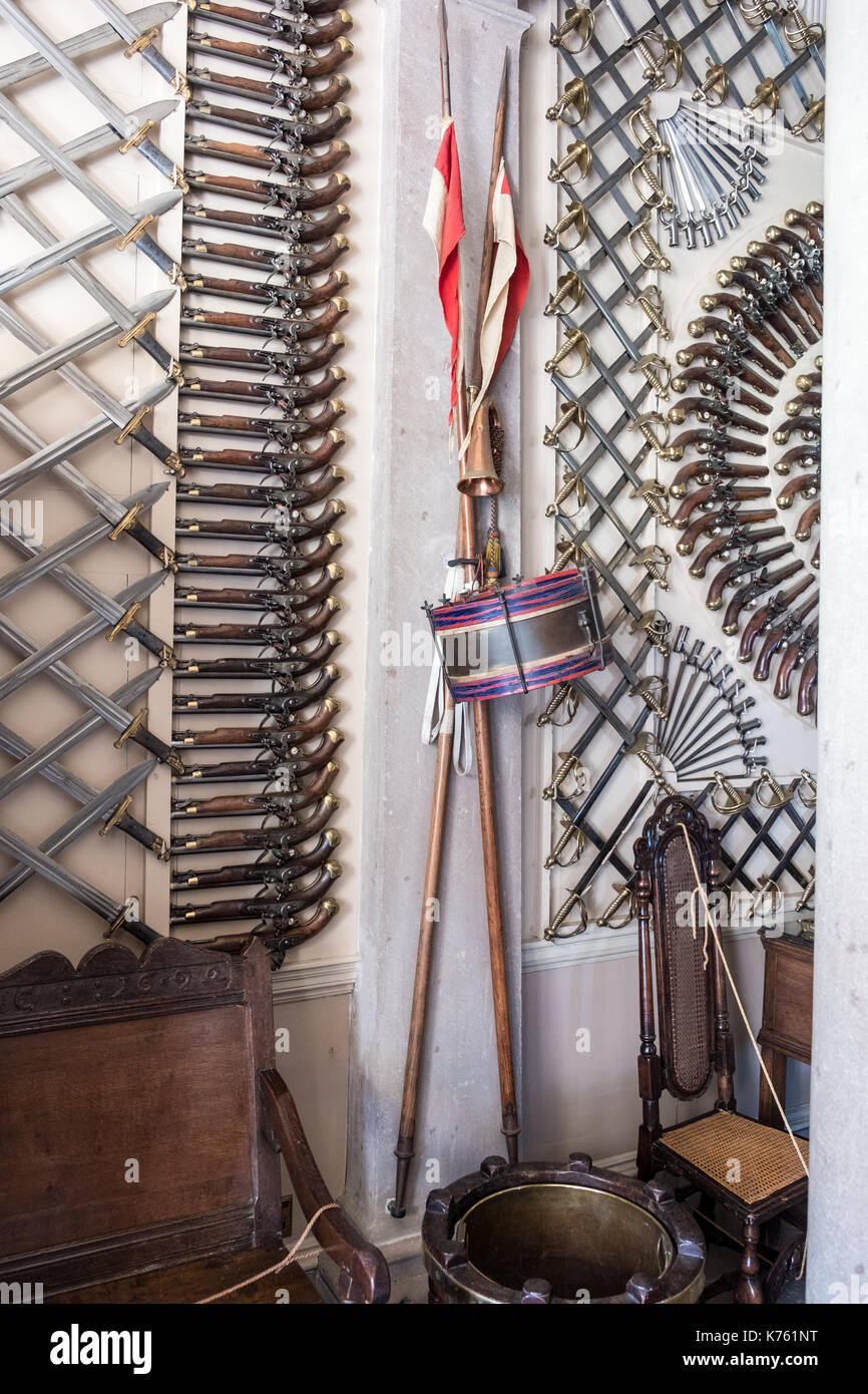 Armaments and militaria at Culzean Castle Girvan Scotland - Stock Image
