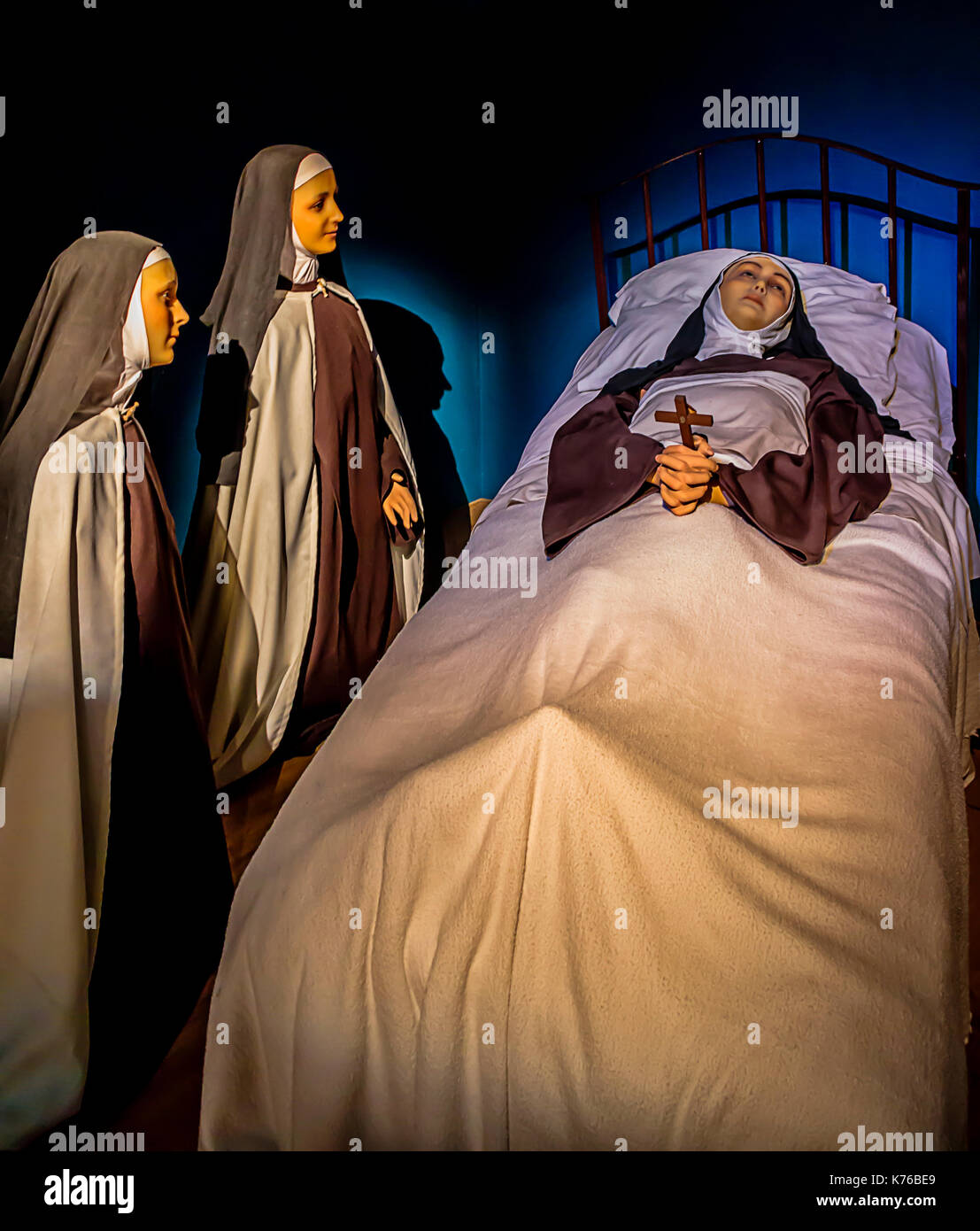 Wax Works At The Basilica Of St Therese In Lisieux, France. - Stock Image