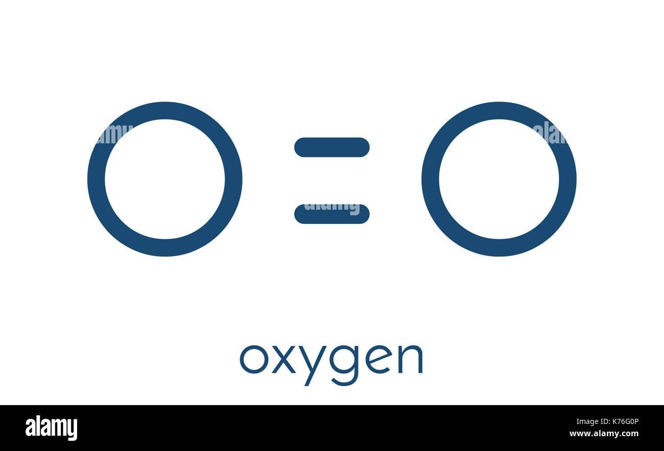 Atomic oxygen stock photos atomic oxygen stock images alamy elemental oxygen o2 molecule skeletal formula stock image biocorpaavc Images