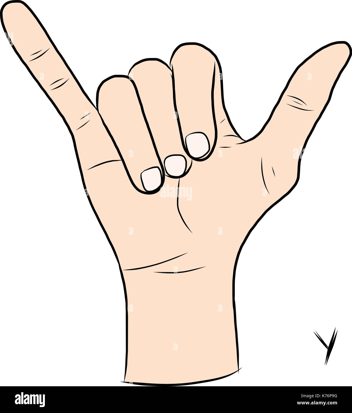 Sign language and the alphabet The Letter Y Stock Vector Art