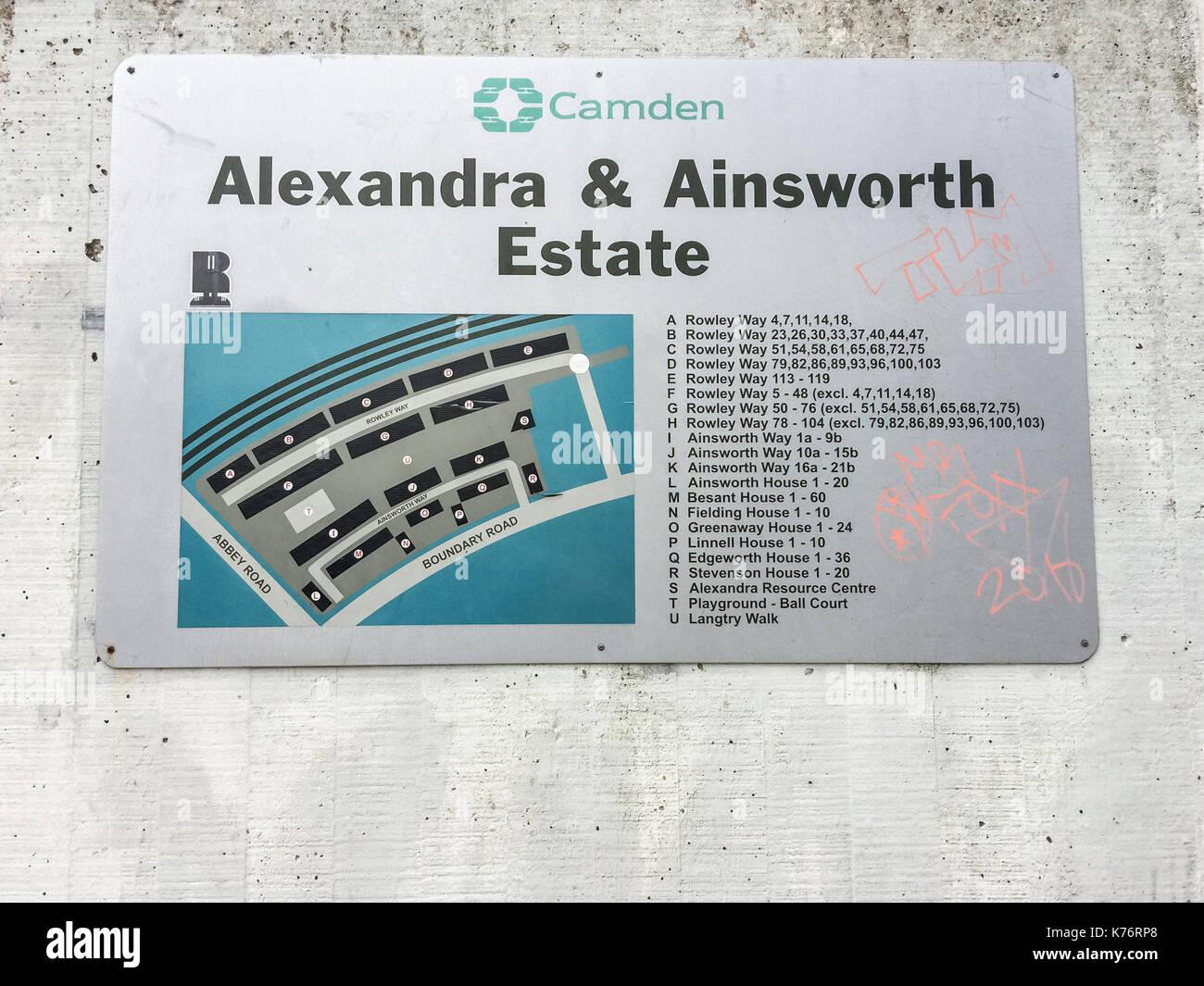Alexandra & Ainsworth Estate, London Stock Photo