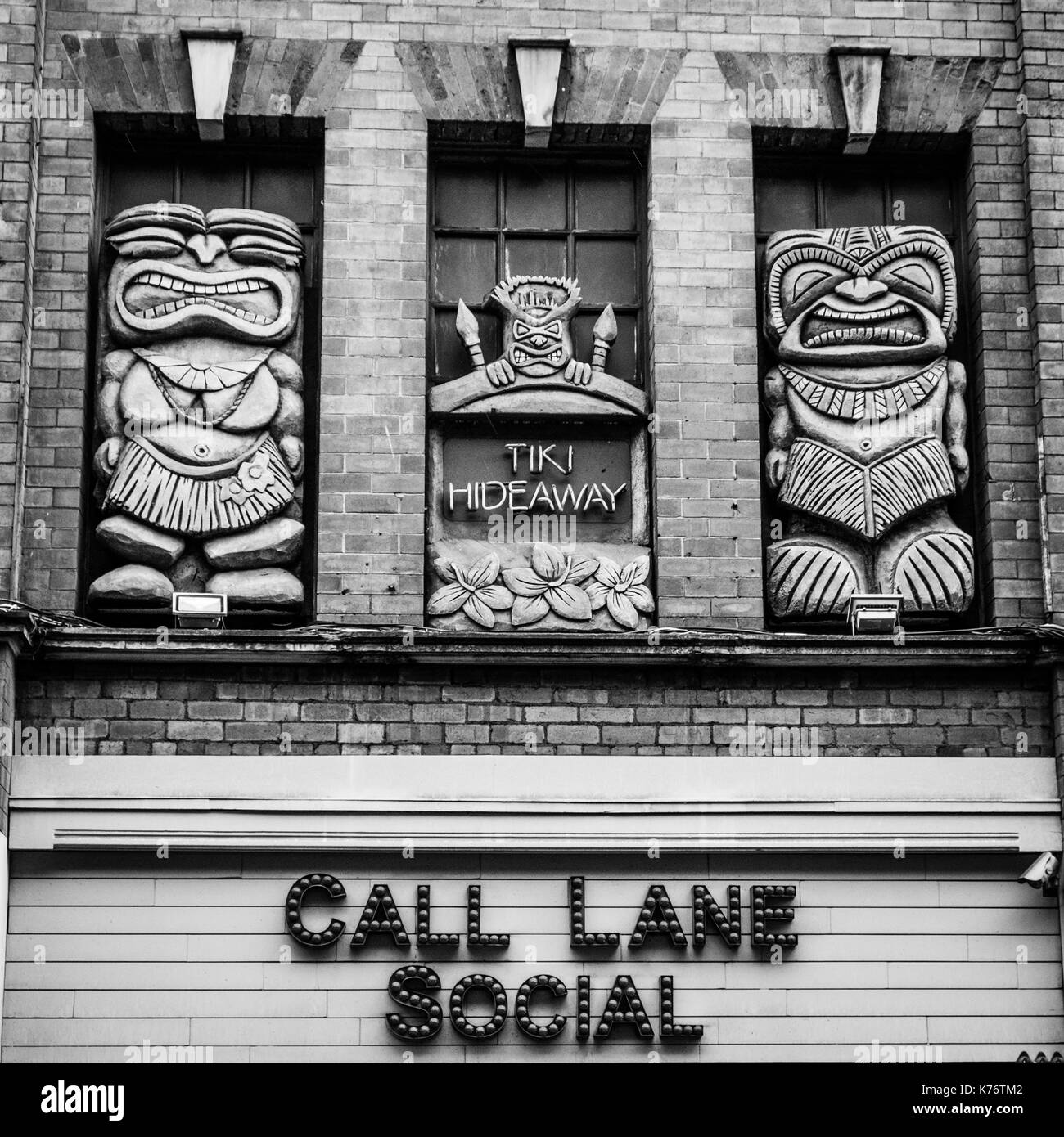 Call Lane Social, a bar on Call Lane, Leeds, West Yorkshire. - Stock Image