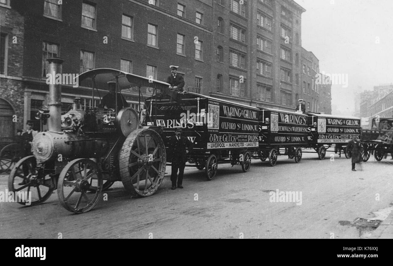 Wallis and Stevens Traction engine - Stock Image