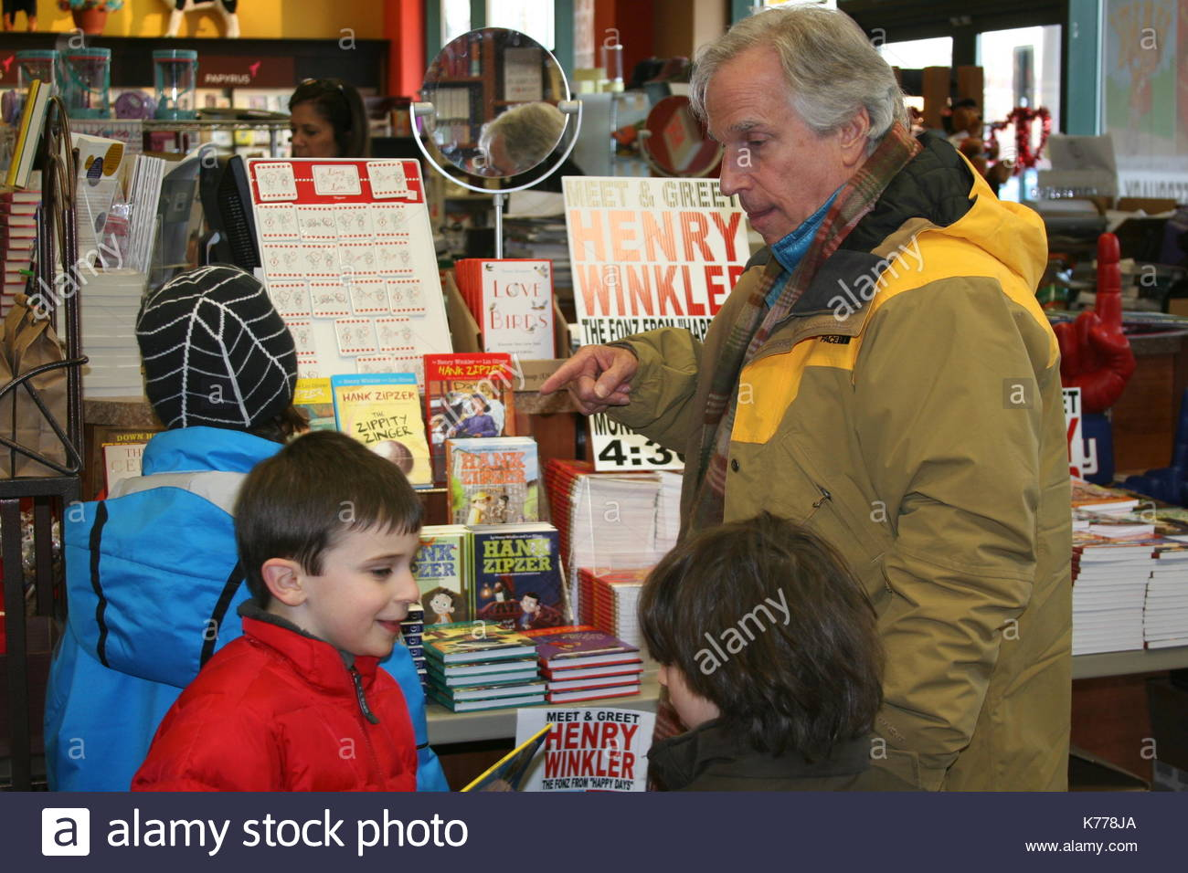 Henry winkler henry winkler actor producer director and author henry winkler actor producer director and author stopped in at books and greetings in northvale nj to sign the latest in his series of hank zipzer books m4hsunfo