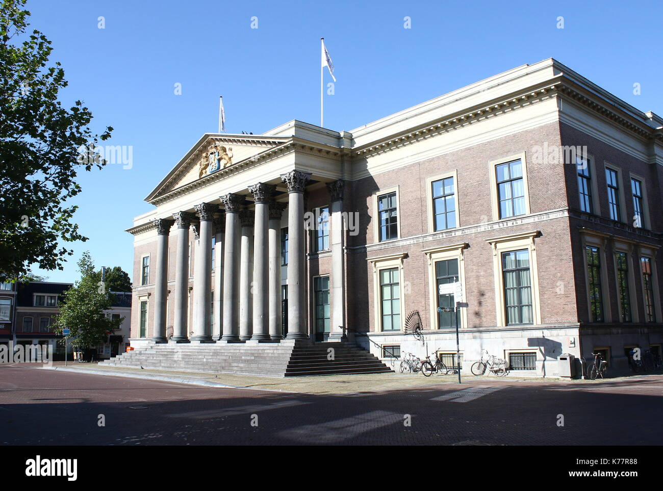 19th century court of Justice (Gerechtshof Leeuwarden), at central Zaailand square in Leeuwarden,  Friesland, The Netherlands - Stock Image