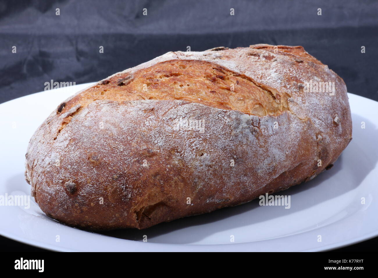 frisch gebackenes brot aus vollkorn,freshly baked bread from whole wheat, - Stock Image
