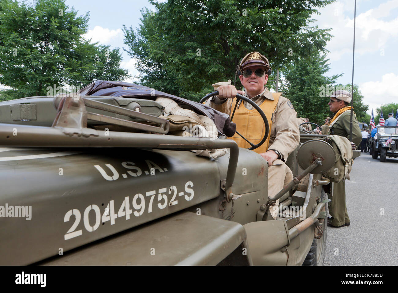 US Air Force reenactors of World War II participate in the National Memorial Day Parade - Washington, DC USA Stock Photo