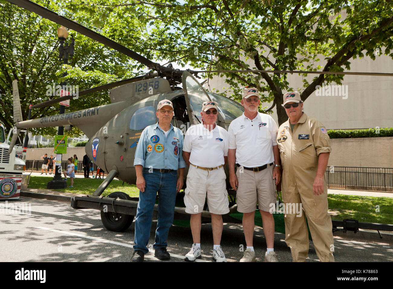 North Carolina Helicopter Pilots Association (NCVHPA) participating in the National Memorial Day parade - Washington, DC USA - Stock Image
