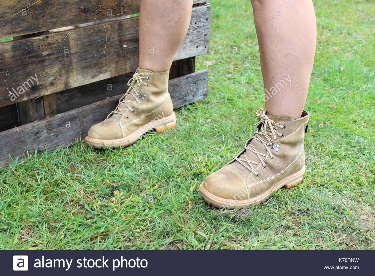 women's work boot - Stock Image