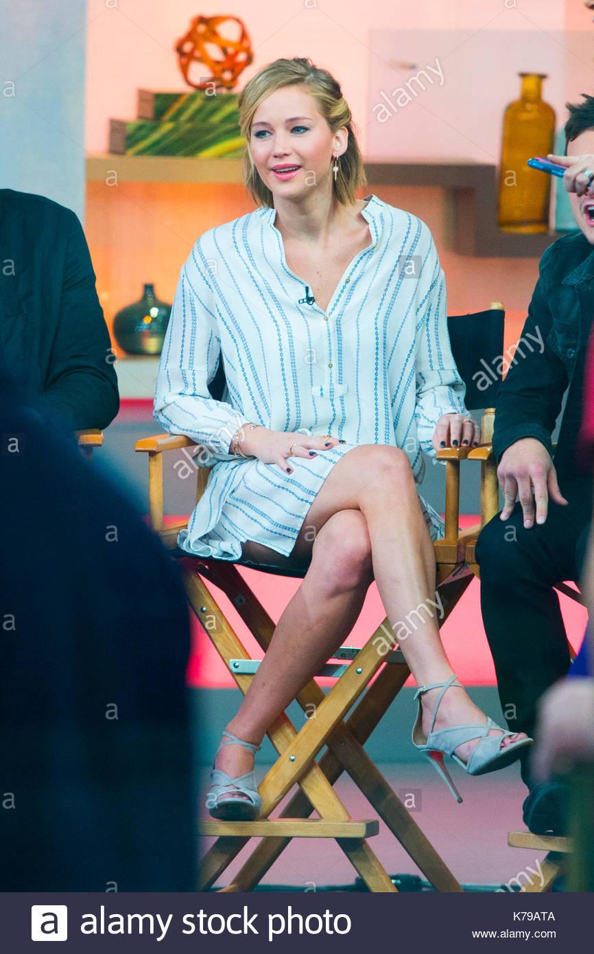 Jennifer Lawrence. Jennifer Lawrence at 'Good Morning America' in NYC. - Stock Image