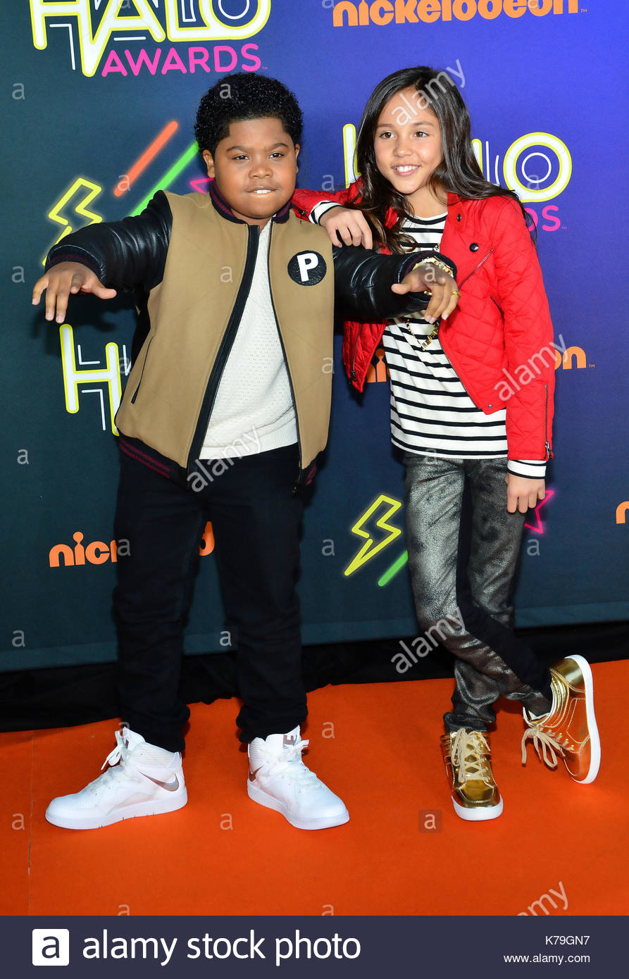 Breanna yde and benjamin flores jr stock photos breanna yde and benjamin flores jr and breanna yde 2014 nickelodeon halo awards at pier 36 on november thecheapjerseys Images