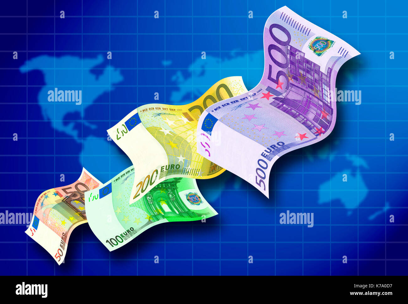 strong Euro currency concept - Stock Image
