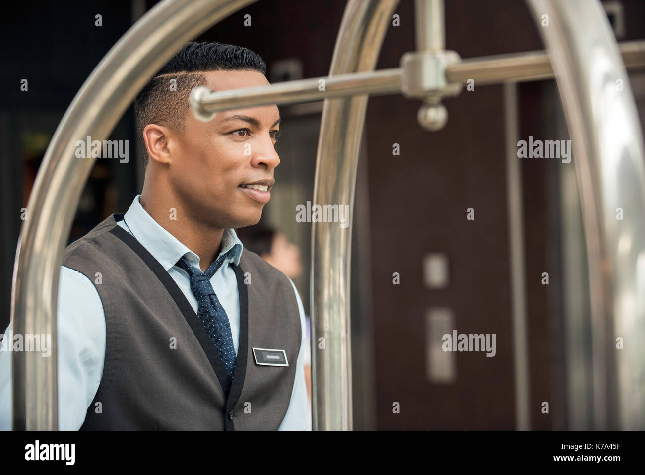 Hotel bellboy - Stock Image