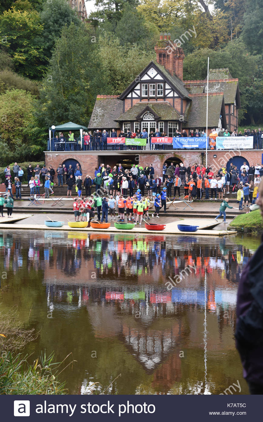 Shrewsbury, UK. 15th Sep, 2017. Teams of competitors taking part in the 10th annual coralce world championships Stock Photo
