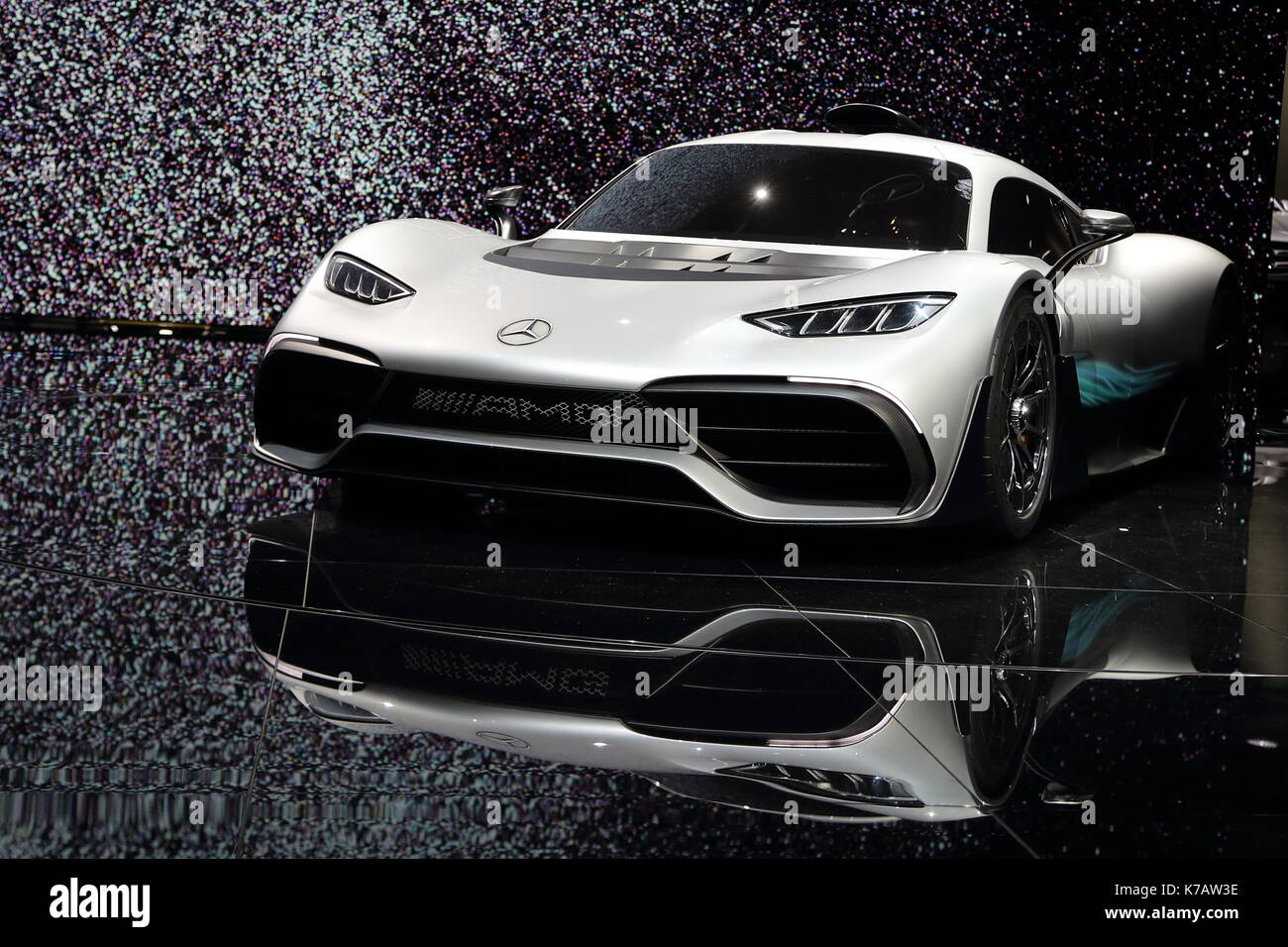 Frankfurt, Germany. 15th Sep, 2017. Car manufacturers from all over the world present their newest models and concept cars at this year's IAA car exhibiton. Electric and hybrid cars were at the centre of attention. Credit: Uwe Deffner/Alamy Live News - Stock Image
