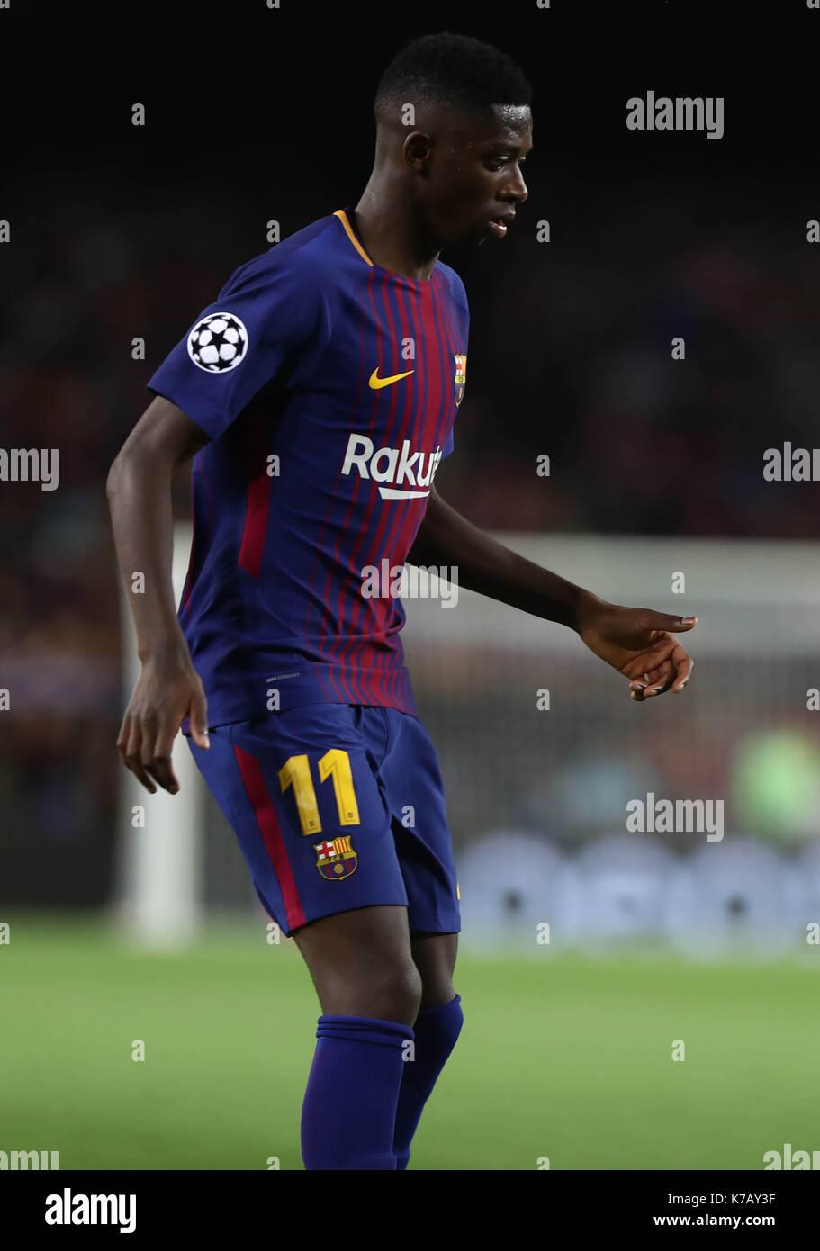 Champions League (Match de poule), Futbol Club Barcelona vs Juventus Football Club SpA Mardi 12 Septembre 2017. (c) 2017 / LMP Laurent Lairys - Stock Image