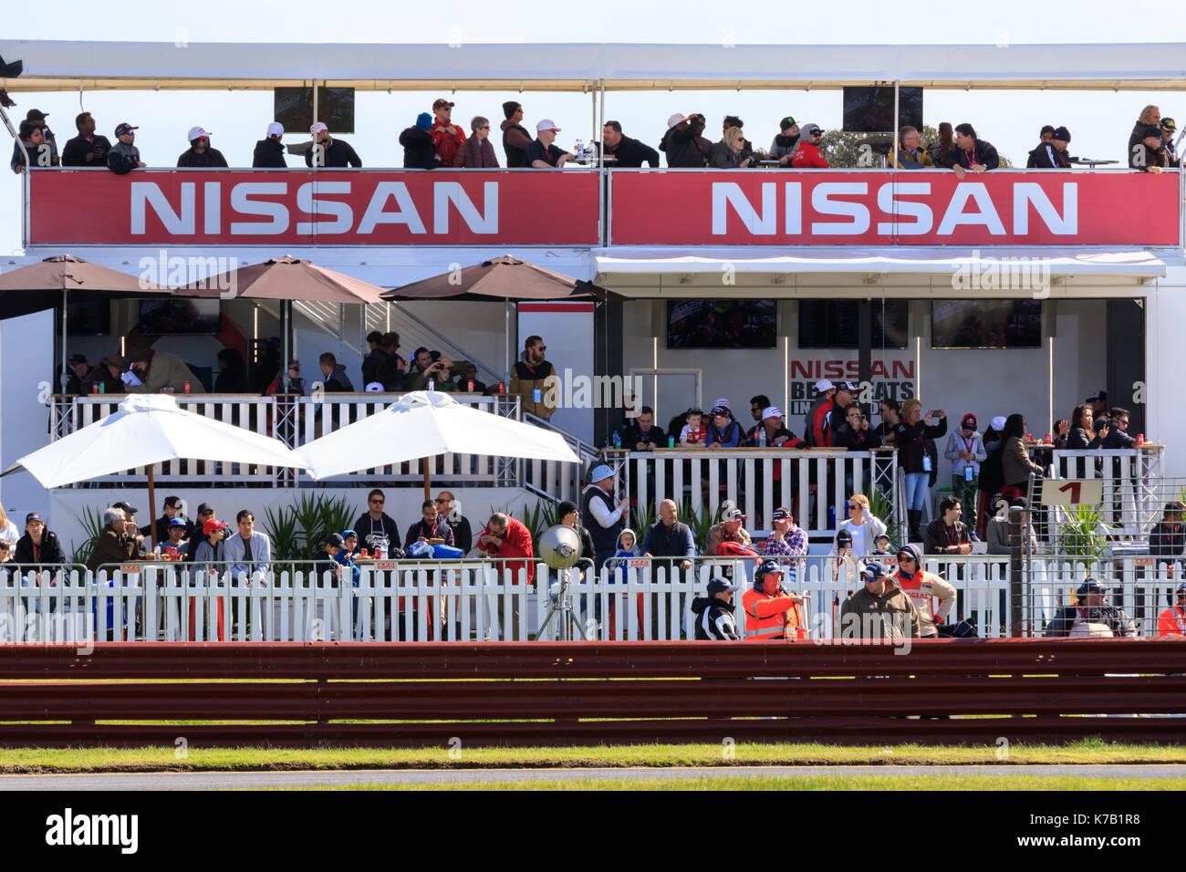 MELBOURNE AUSTRALIA - 16 SEPTEMBER Nissan Motorsport tent during the The Virgin Australia Supercars Ch&ionship - 2017 Sandown 500 Australia on ... & MELBOURNE AUSTRALIA - 16 SEPTEMBER: Nissan Motorsport tent during ...