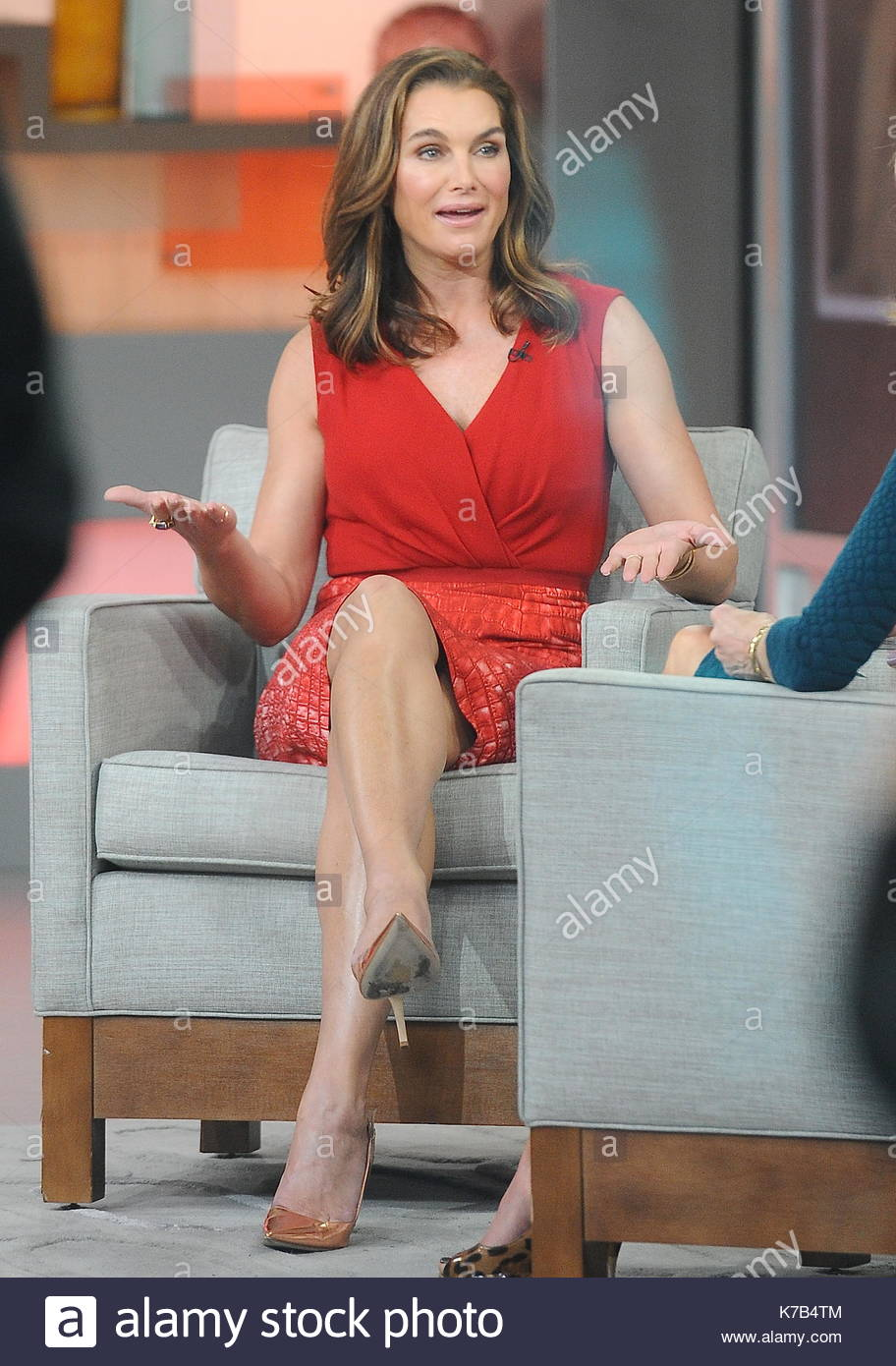 Brooke Shields. Brooke Shields Seen On U0027Good Morning Americau0027 Today In NYC.