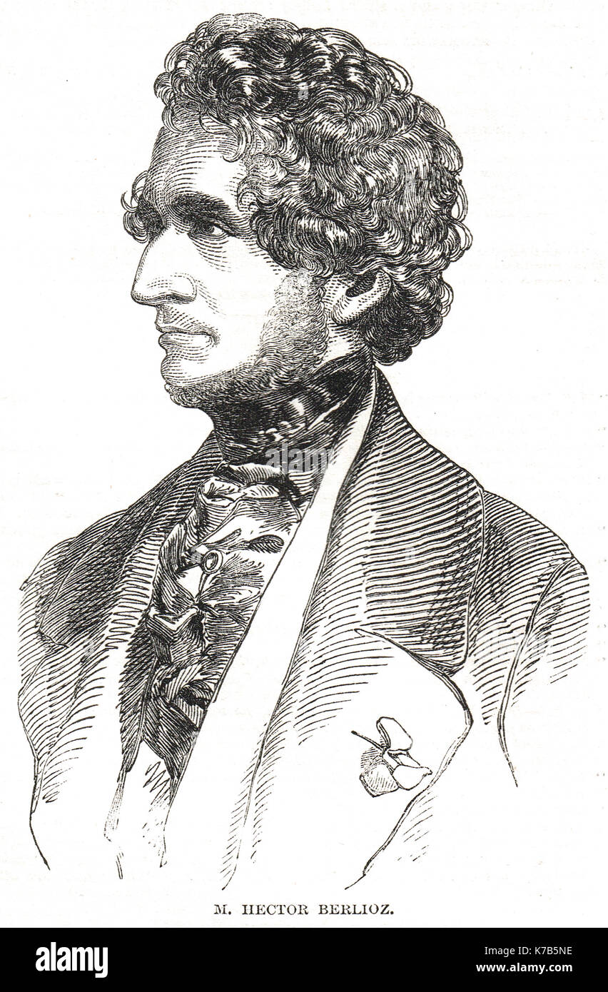 Hector Berlioz, French Romantic composer - Stock Image