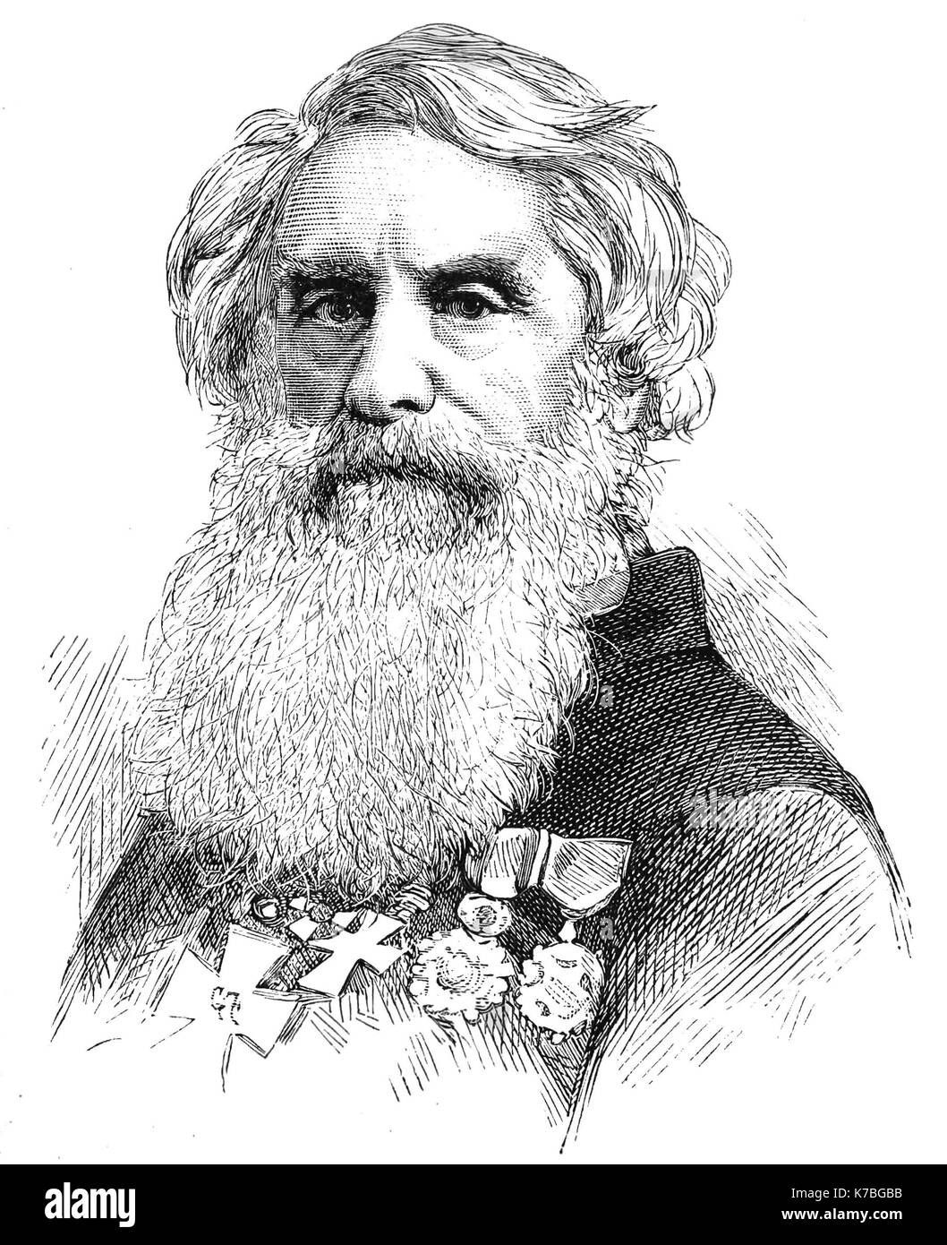 SAMUEL MORSE (1791-1872) American painter and inventor who jointly developed the Morse code and the telegraph system - Stock Image