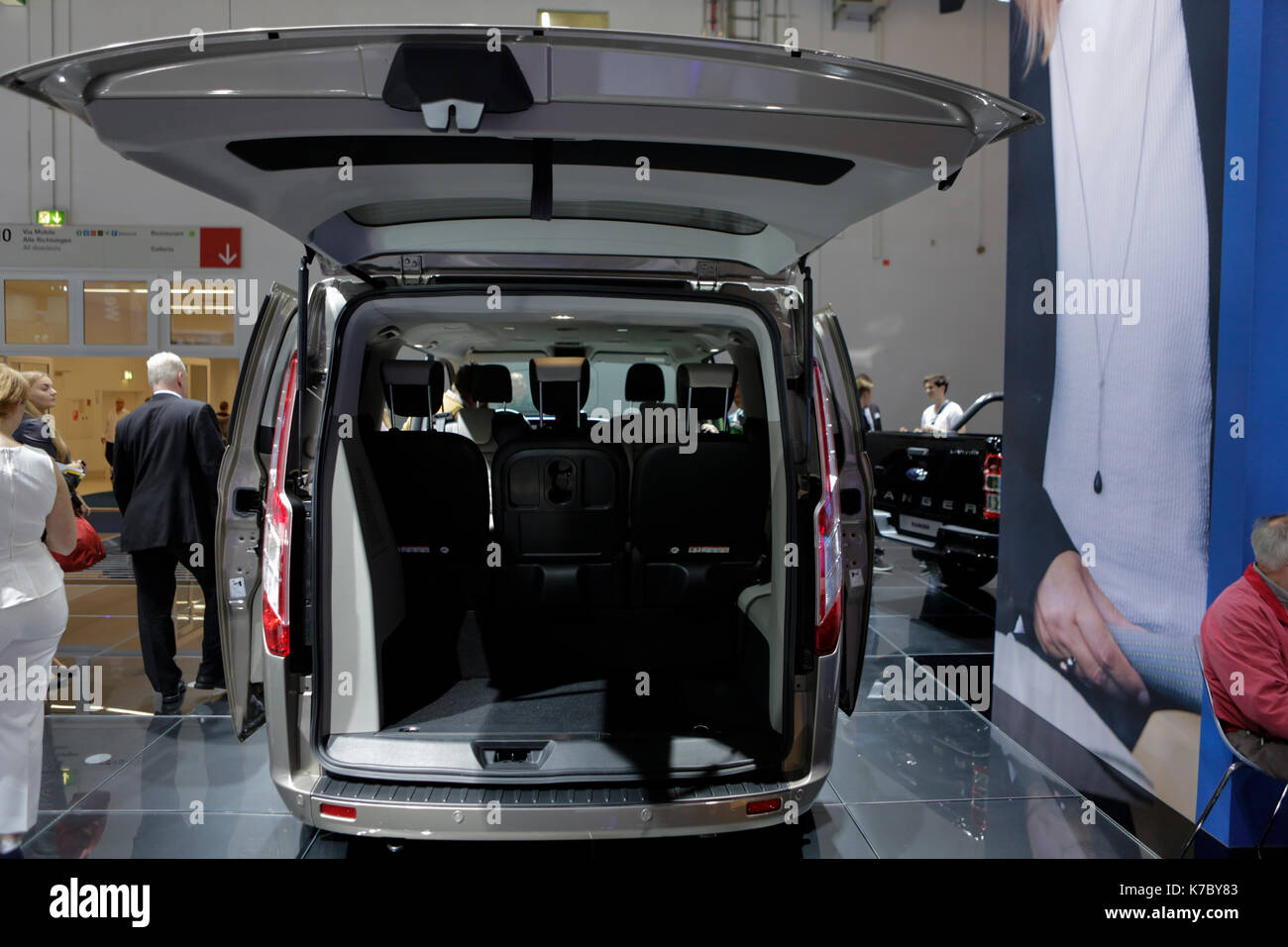 The american car manufacturer ford motor company presents the ford tourneo custom at the 67 iaa the 67 internationale automobil ausstellung iaa opened