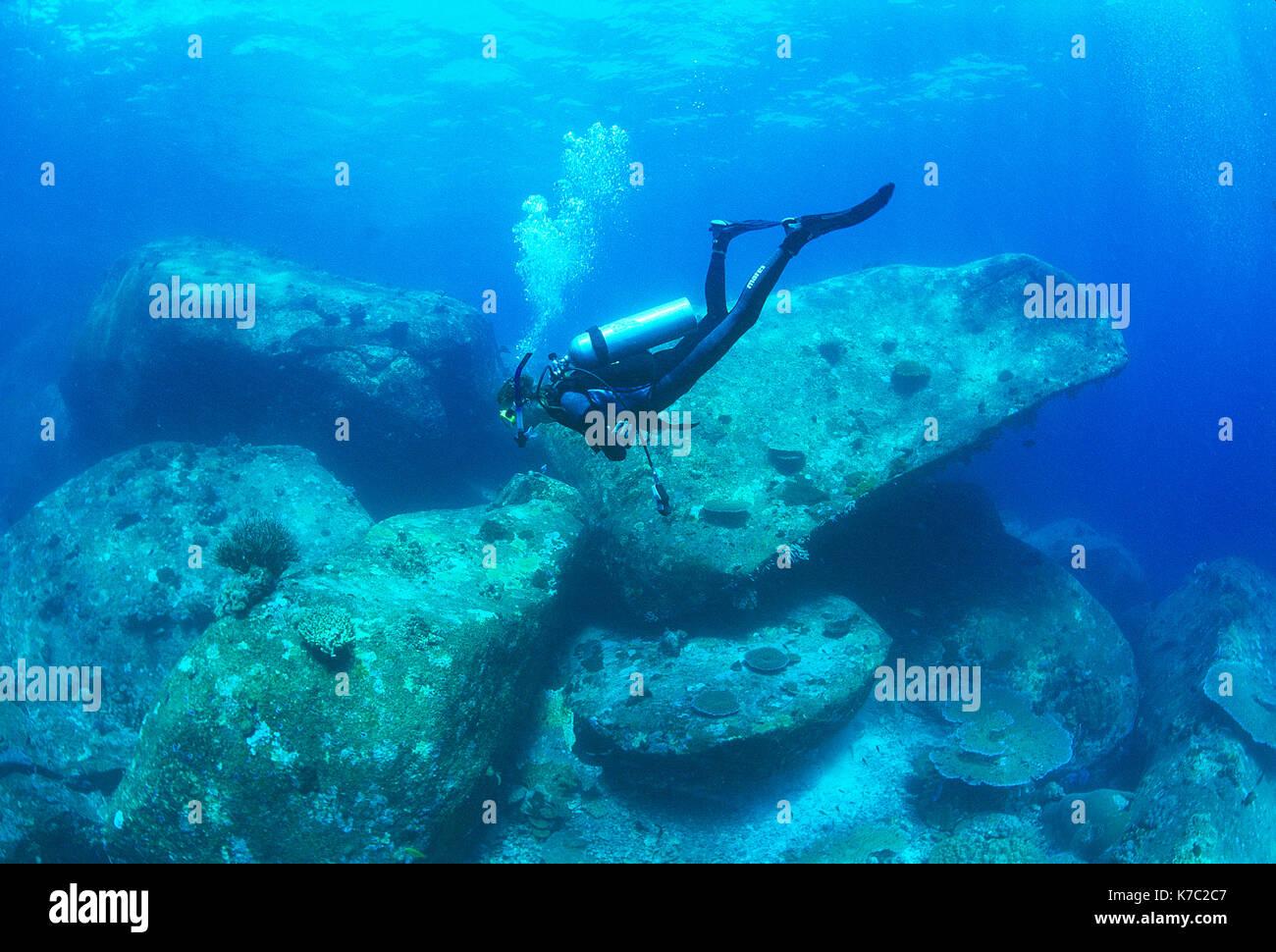 Thailand. Similan Islands. Scuba diving. - Stock Image