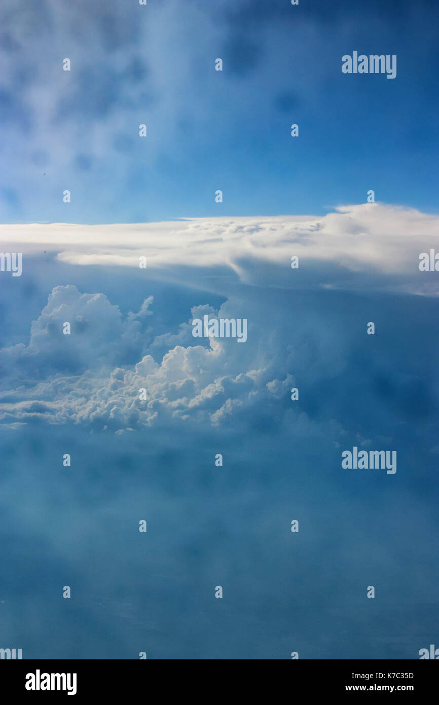 Skyscape with scenic clouds - Stock Image