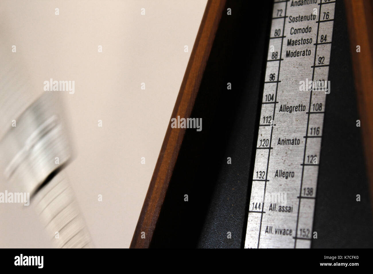 Vintage metronome close-up - Stock Image