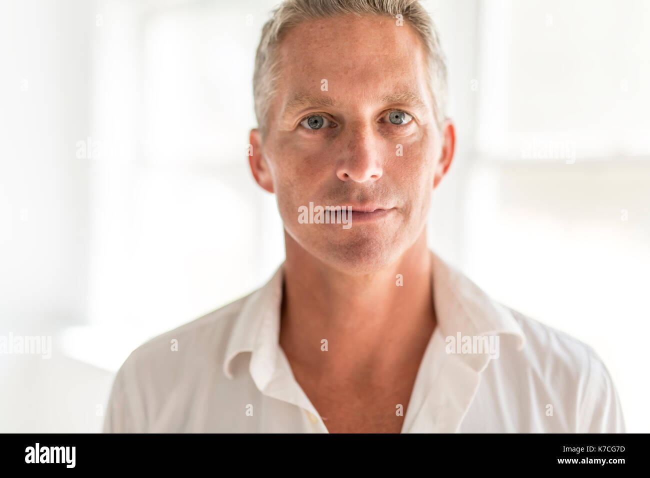 Portrait of attractive 40-year-old man - Stock Image