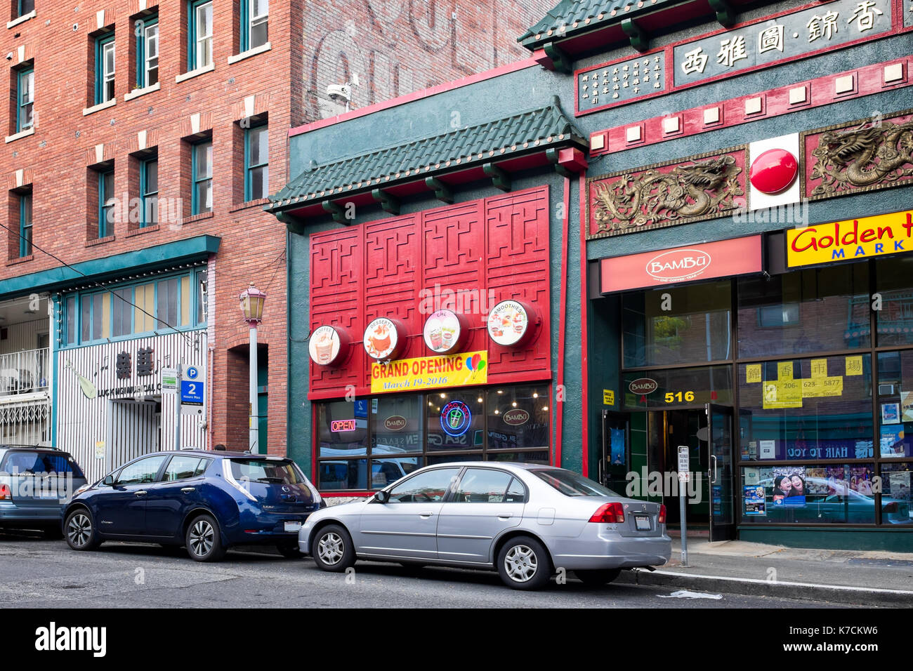 Seattle Aug 8 2016 Chinatown Street In The