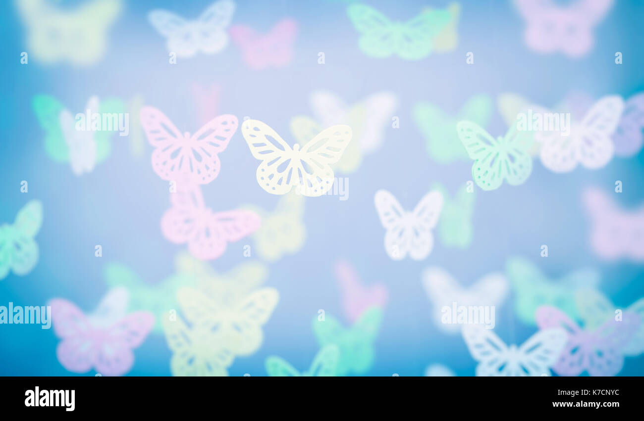 Abstract Butterfly Background, Cute Little Baby Room
