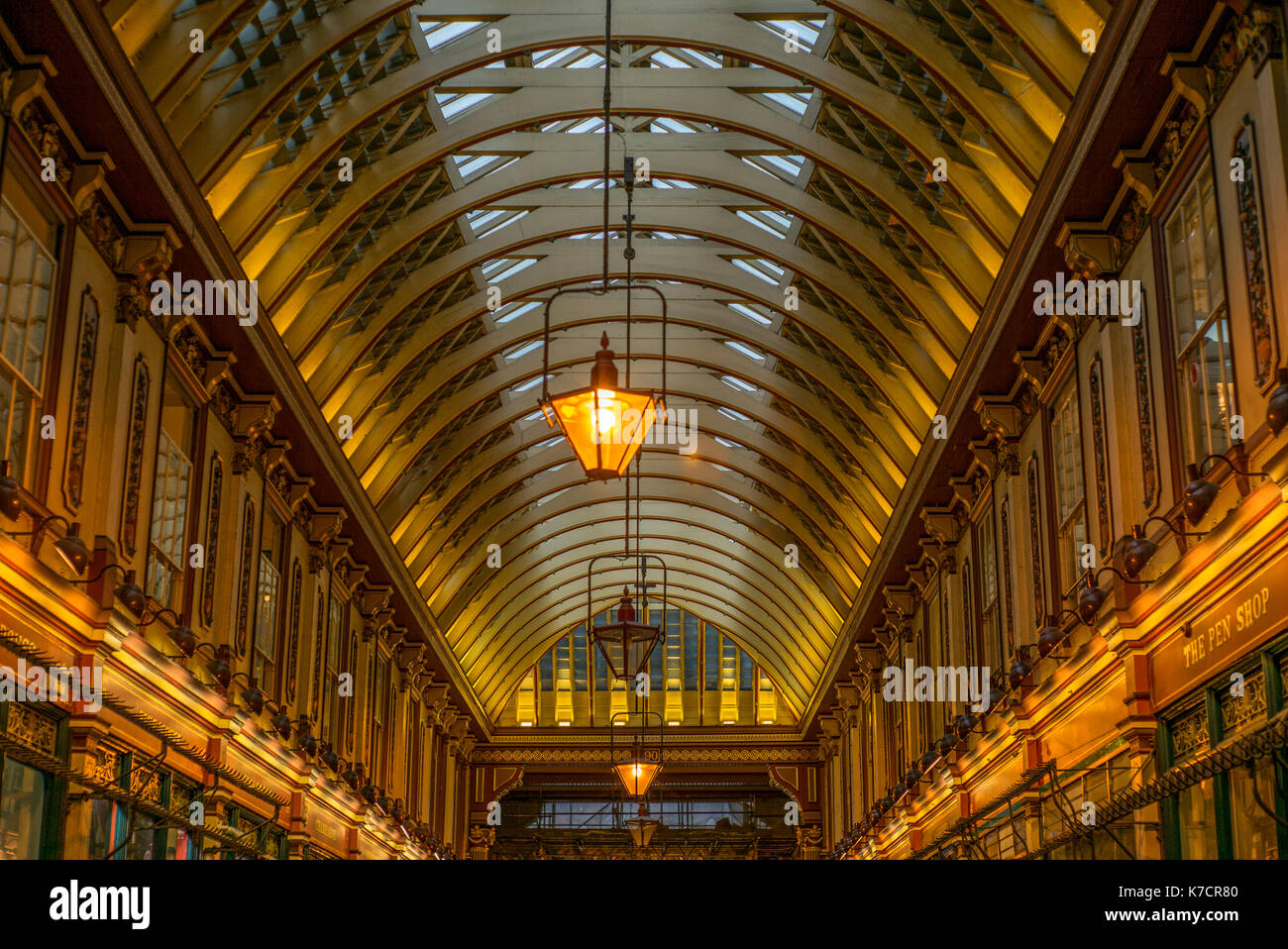 LONDON, UNITED KINGDOM - AUGUST 29, 2017: View of Leadenhall Market in London - 3 - Stock Image