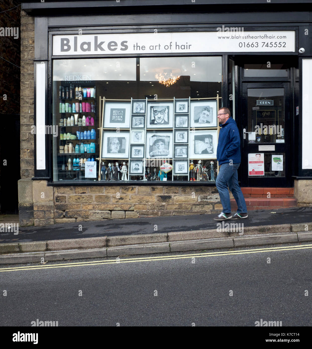 Shops in New Mills, Derbyshire take part in the Art Trail