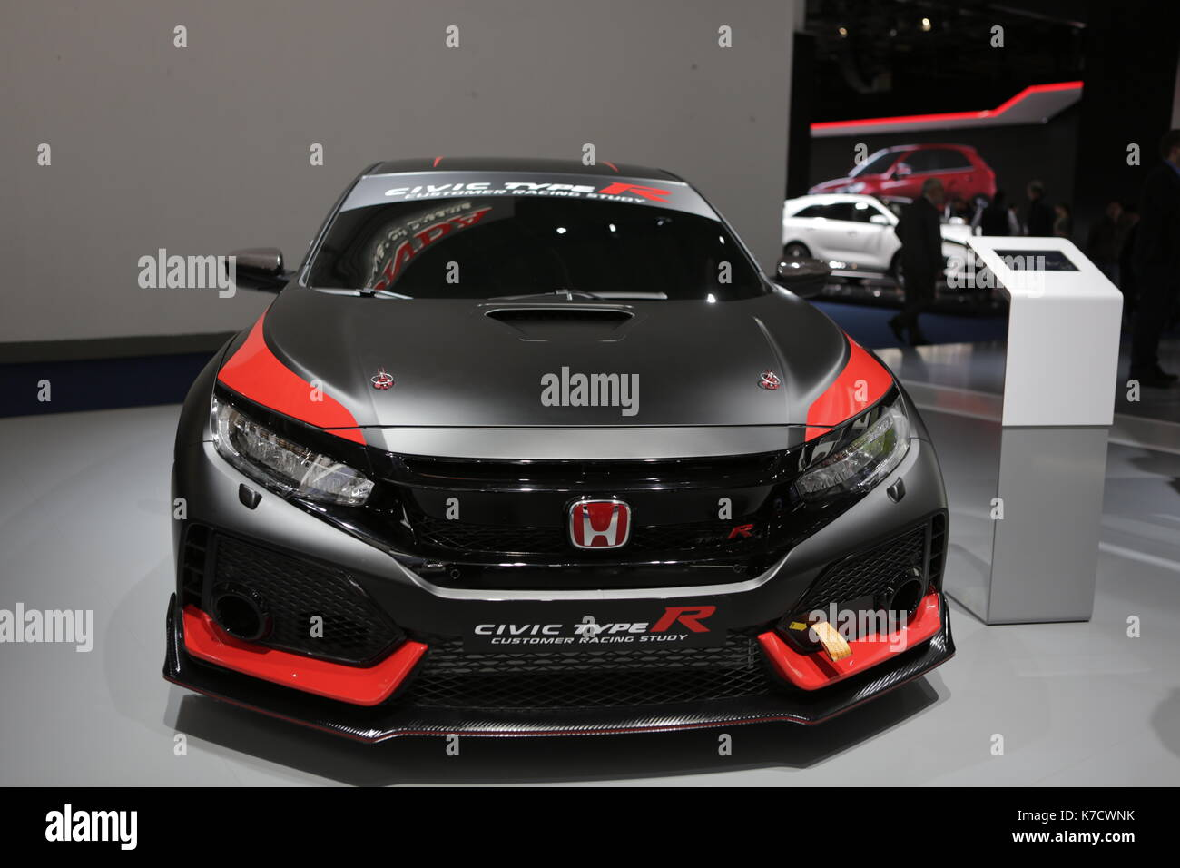 The Japanese Car Manufacturer Honda Presents Civic Type R At 67 IAA Internationale Automobil Ausstellung Opened In Frankfurt