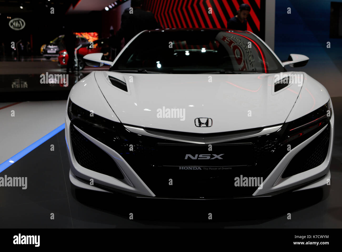 The Japanese Car Manufacturer Honda Presents NSX At 67 IAA Internationale Automobil Ausstellung Opened In Frankfurt For Trade