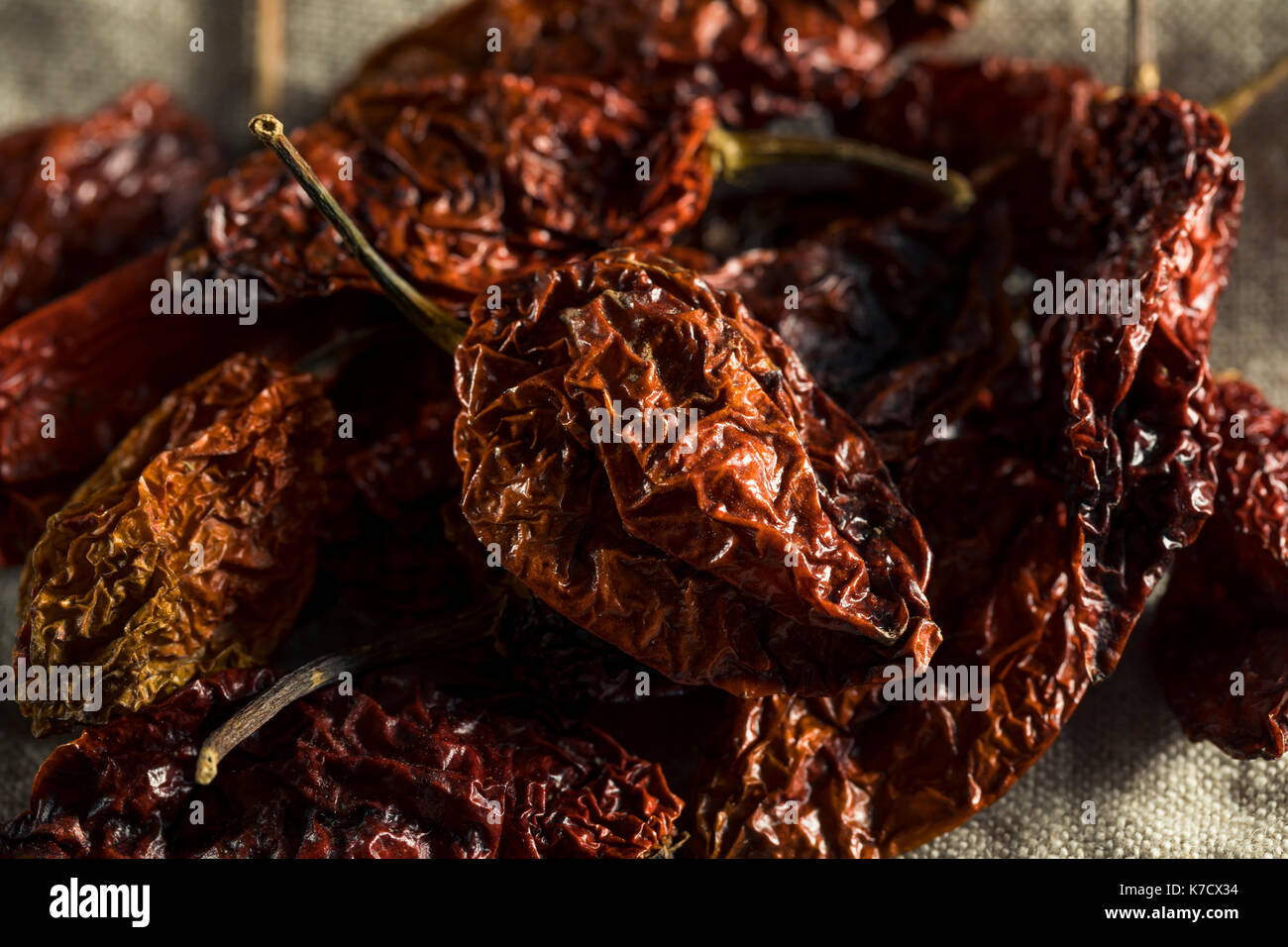 Super Hot Spicy Scorpion Bhut Jolokia Pepper Ready to Use Stock Photo
