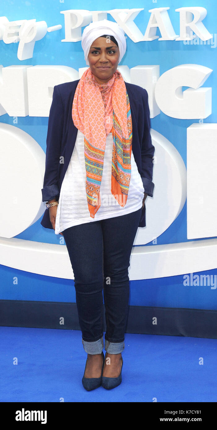 Photo Must Be Credited ©Alpha Press 080001 10/07/2016 Nadiya Hussain Finding Dory Premiere at Odeon Leicester Square Stock Photo