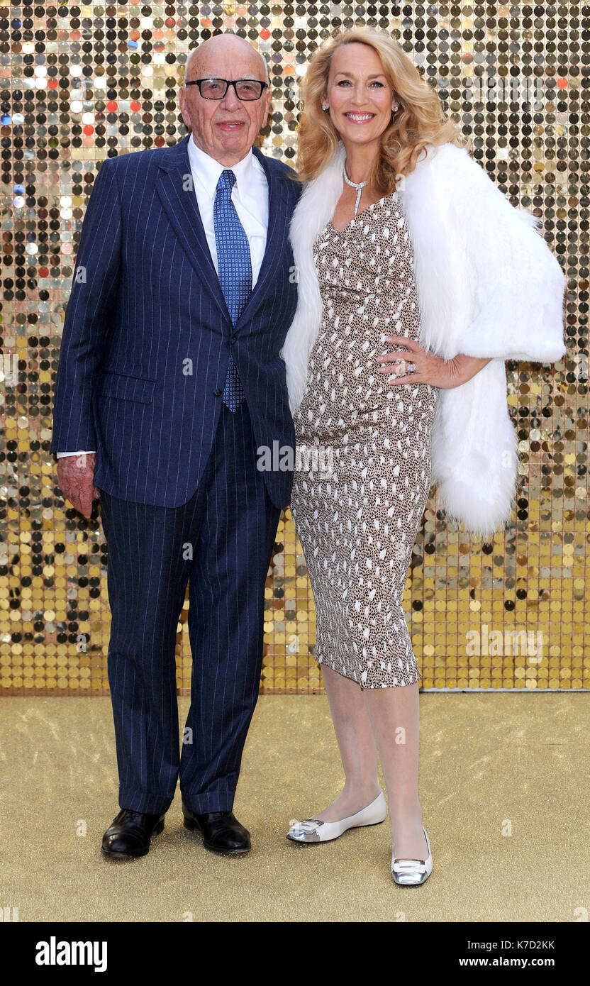 Photo Must Be Credited ©Alpha Press 078237 29/06/2016 Rupert Murdoch and Jerry Hall Absolutely Fabulous The Movie World Premiere Leicester Square London - Stock Image