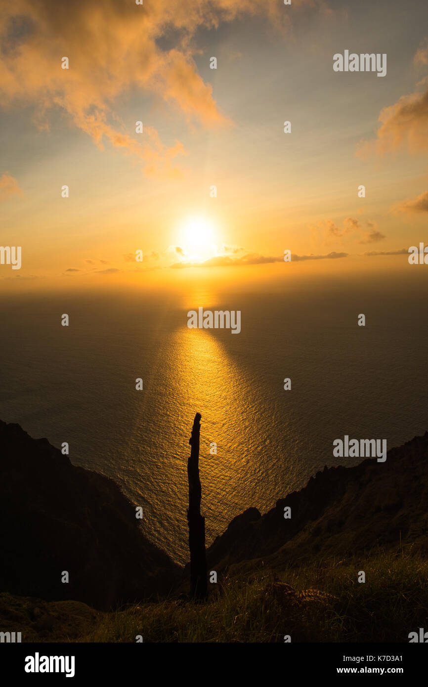 Whenever you travel, the sunsets are one of the most memorable views you will have. The sunset in Madeira are stunning - Stock Image