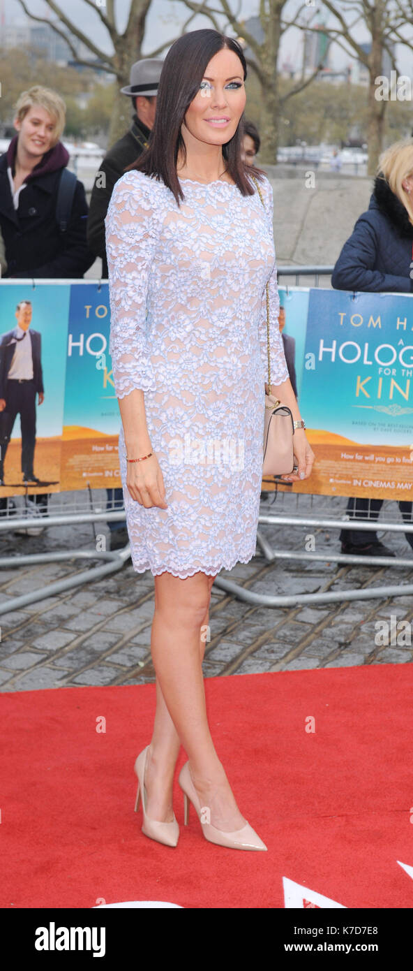 Photo Must Be Credited ©Kate Green/Alpha Press 079965 25/04/2016   Linzi Stoppard A Hologram For The King UK Premiere BFI Southbank London - Stock Image