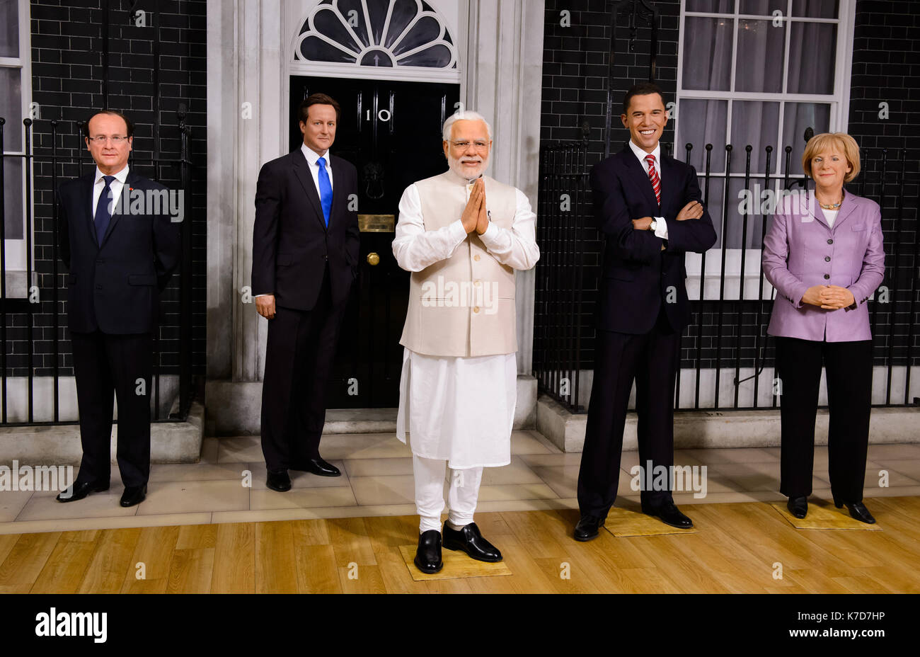 Photo Must Be Credited ©Alpha Press 065630 28/04/2016 Indian Prime Minister, Narendra Modi, this morning took his place alongside other world leaders at Madame Tussaud's London. His new wax figure today arrived at the Baker Street attraction fresh from Delhi, where Mr Modi had a private viewing with his likeness last week. - Stock Image