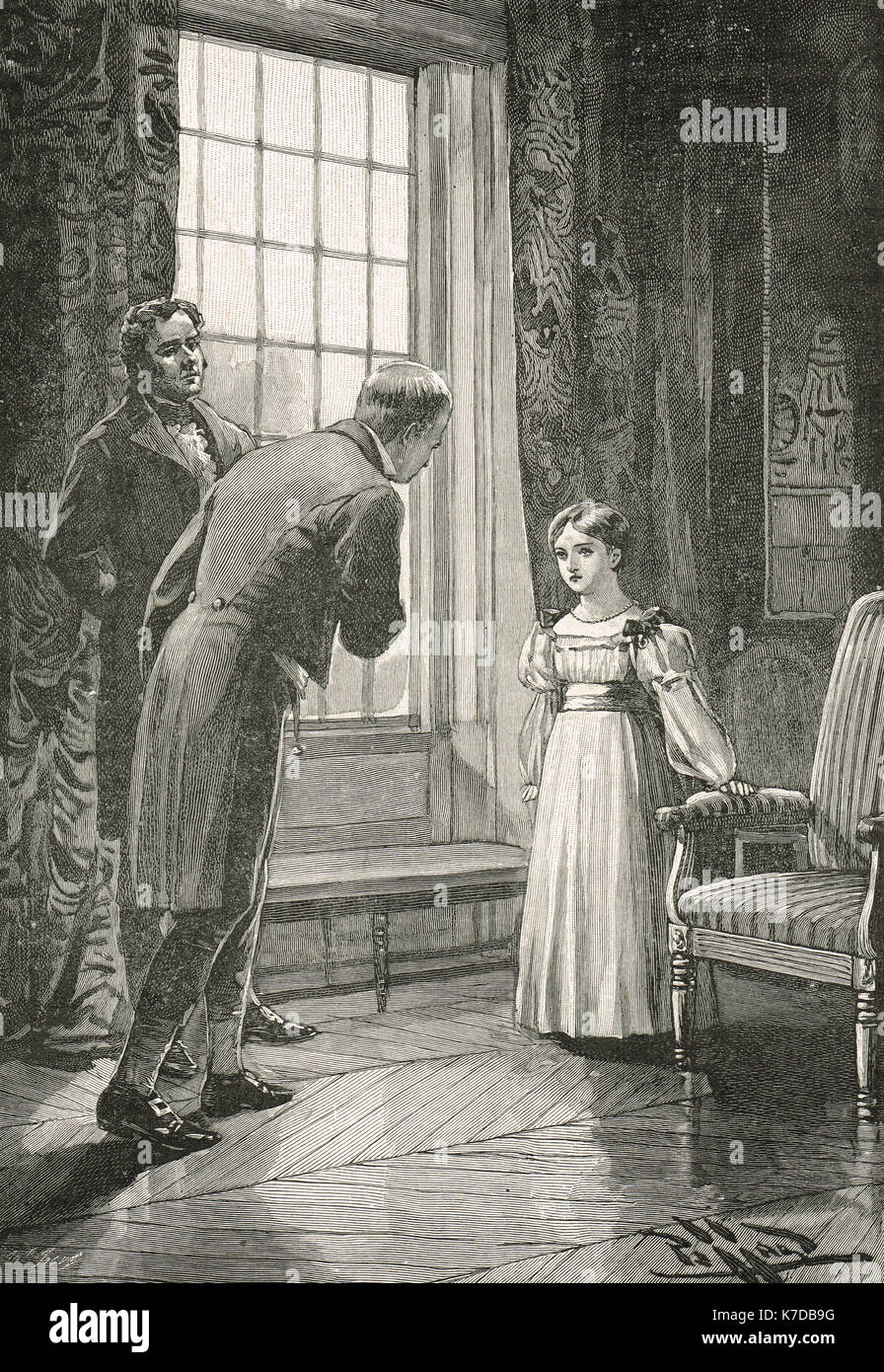 Victoria, Princess Royal meeting Sir Walter Scott - Stock Image