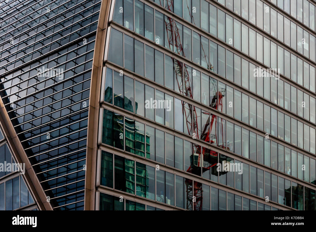 Architectural Detail, Moor House, Moorgate, The City Of London, London, UK - Stock Image