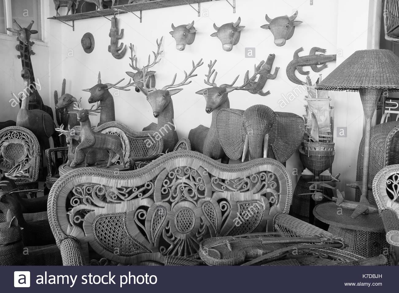 Wicker animals, Camacha, Madeira - Stock Image