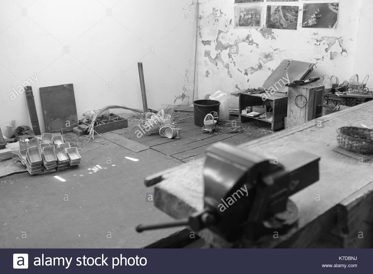 Wicker Workshop, Camacha, Madeira - Stock Image