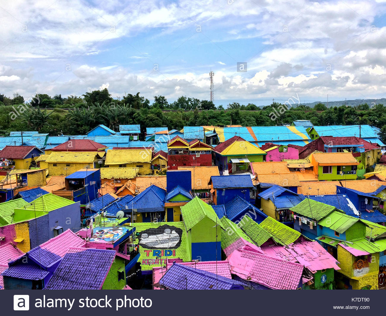Colorful Village In Jodipan Malang Java Indonesia Stock Photo Alamy