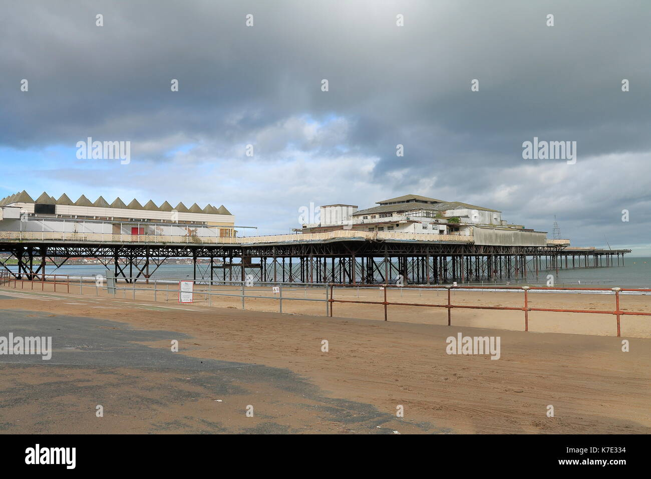 Victoria pier Colwyn Bay in North Wales 2014 before the end collapsed into the sea - Stock Image