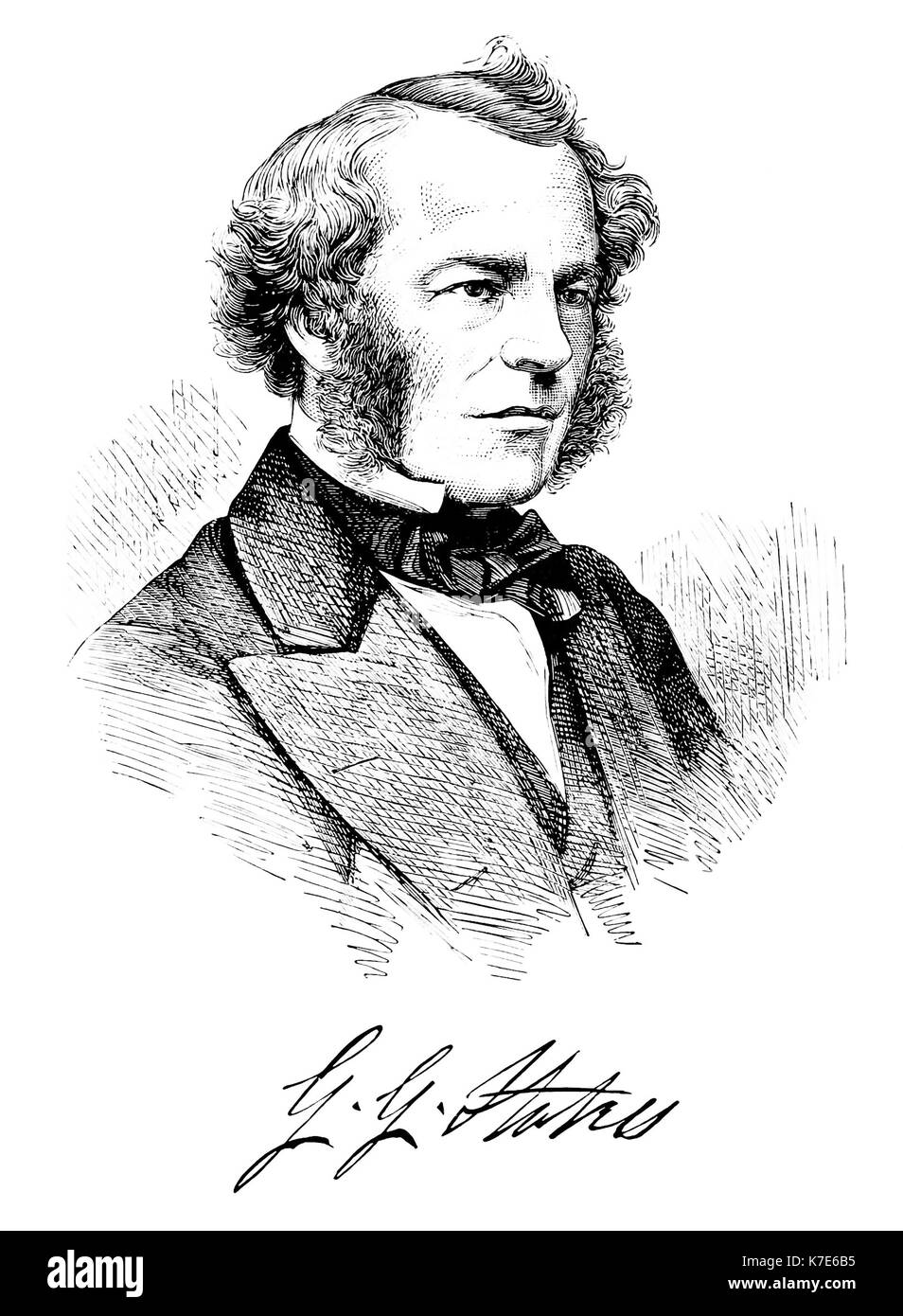 GEORGE GABRIEL STOKES (1819-1903) Irish physicist and mathematician about 1857 Stock Photo