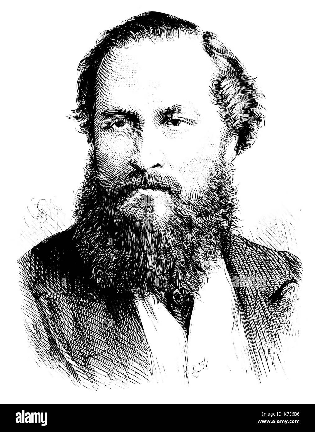 HENRY MAUDSLEY (1835-1918) English psychiatrist - Stock Image